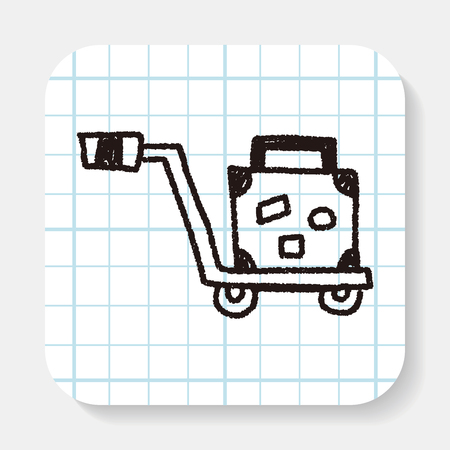 trolley case: Trolley doodle drawing