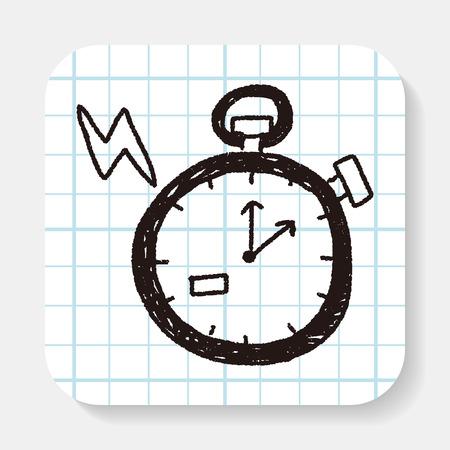 stopwatch: doodle stopwatch Illustration