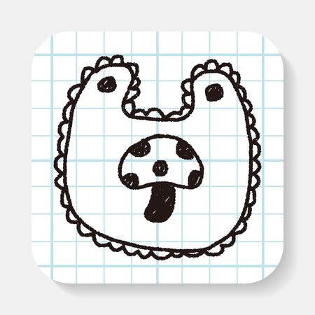 babero: beb� de dibujo del doodle babero