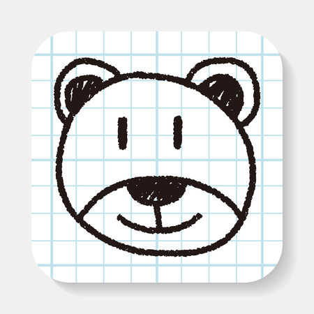 baby bear: baby bear doodle drawing