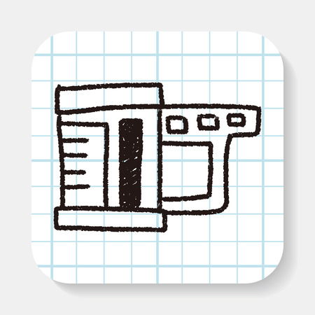 measuring cup: measuring cup doodle drawing