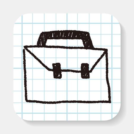 maleta: dibujo del doodle de la maleta