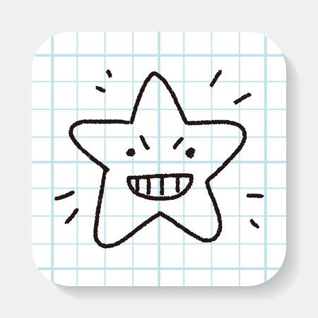 star: doodle star Illustration