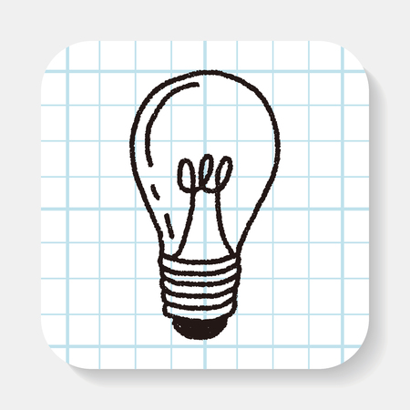 drawing paper: Doodle Light bulb