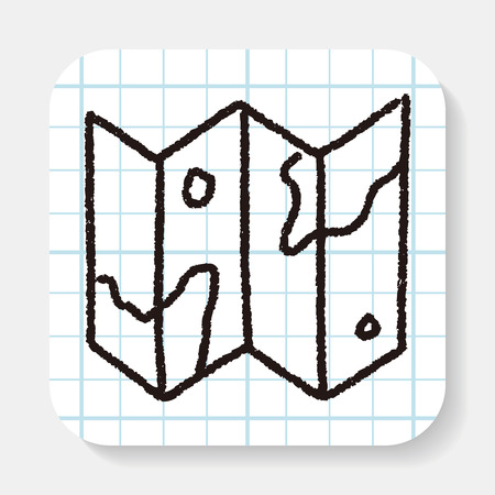 folded hand: doodle map