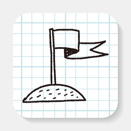 landed: Doodle Landed Illustration