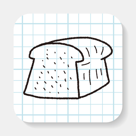 toast: toast doodle drawing