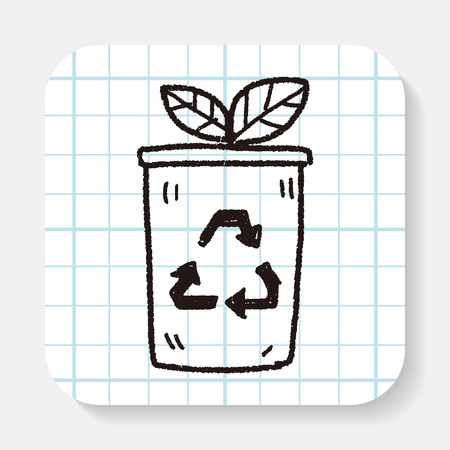 protection: Environmental protection concept; Protect our forests and ecological plant; doodle