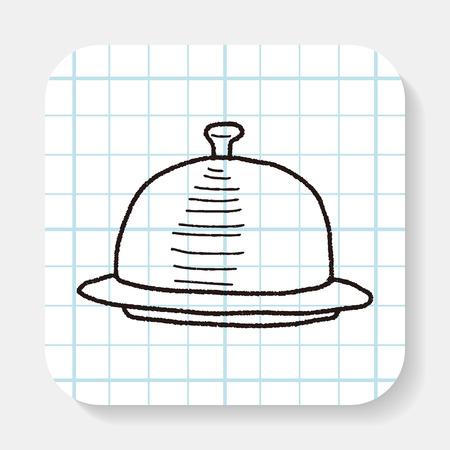 bandeja de comida: food tray doodle Vectores