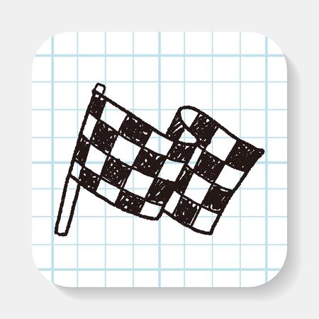 De Vlag van de krabbel Stock Illustratie