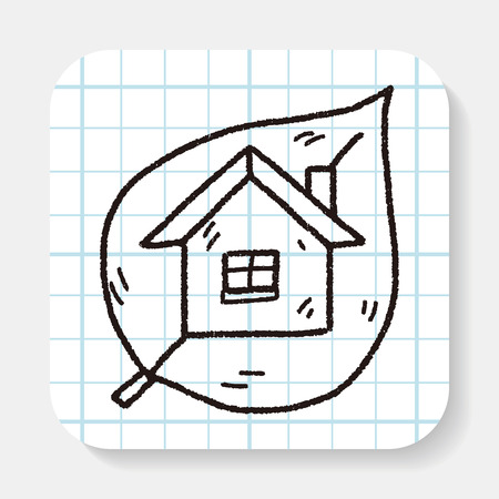 greenhouses: Environmental protection concept; greenhouses; green house; doodle Illustration