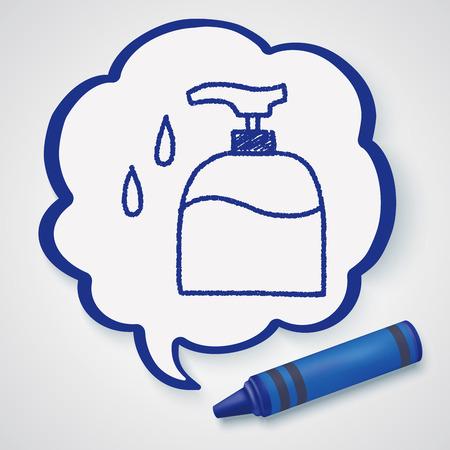 wash face: doodle wash bottle