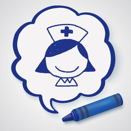 enfermera con cofia: Doodle Nurse