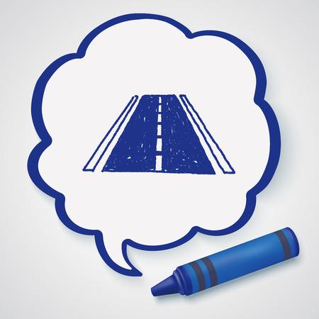 tar paper: doodle road