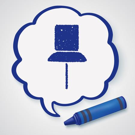 thumbtack: Doodle thumbtack
