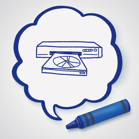 disc: Doodle Disc player Illustration