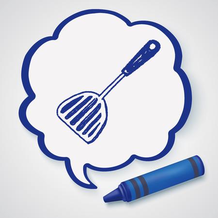 kulinarne: Doodle kulinarne łyżka Ilustracja