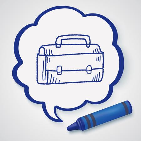 briefcase: doodle briefcase