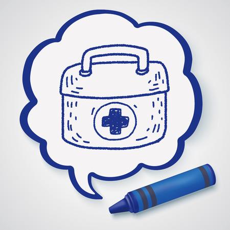 erste hilfe koffer: First aid kit doodle