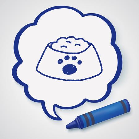food: doodle dog food Illustration