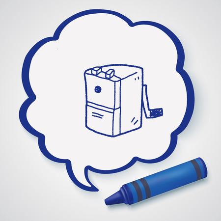 sharpeners: Doodle Pencil sharpeners Illustration