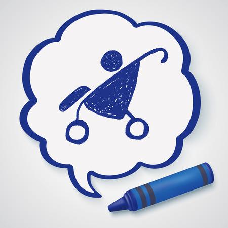 stroller: doodle baby stroller