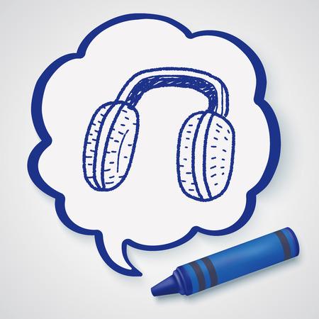 Earmuffs: Earmuffs doodle Illustration