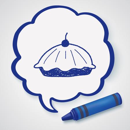 food: pie food doodle