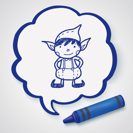elf cartoon: Christmas elf doodle