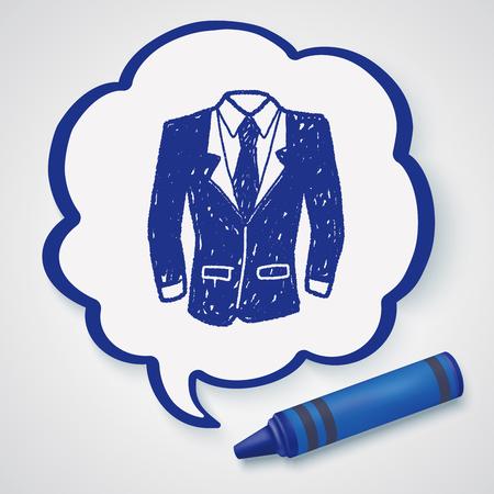 men in suit: suit doodle Illustration