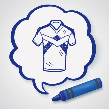 t short: t-shirt doodle Illustration