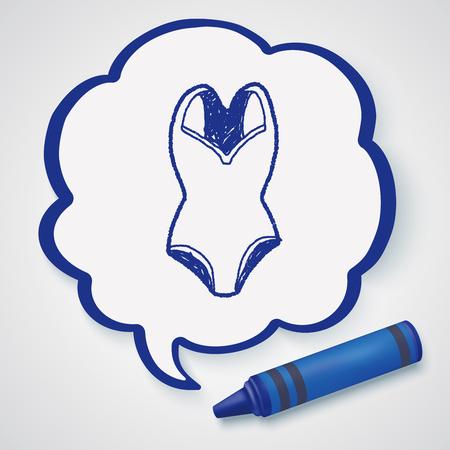 maillot de bain: Maillot de bain doodle Illustration