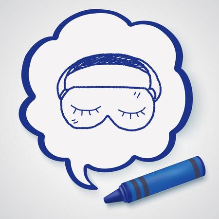 sleep mask: sleep mask doodle