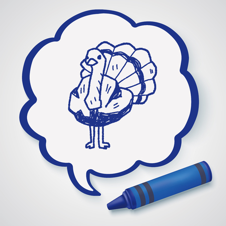 ostrich: doodle de avestruz