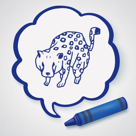 leopard: leopard doodle