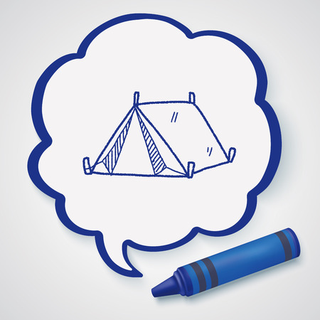 camping tent: doodle tent