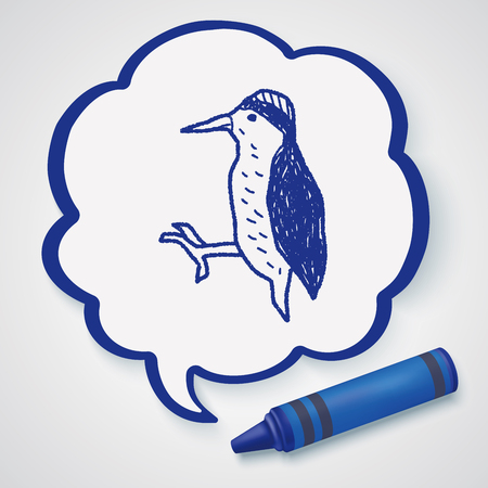 woodpecker: woodpecker doodle Illustration
