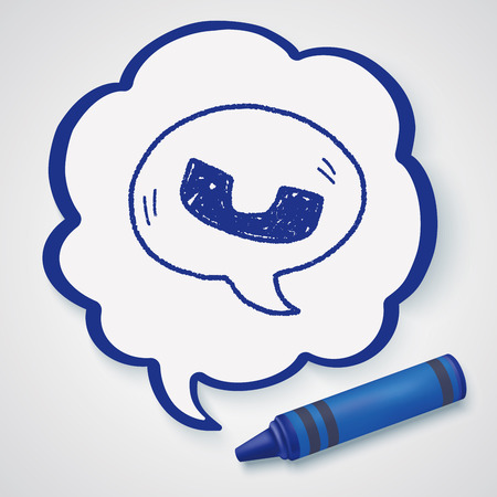 telephone icon: cell phone message doodle drawing Illustration