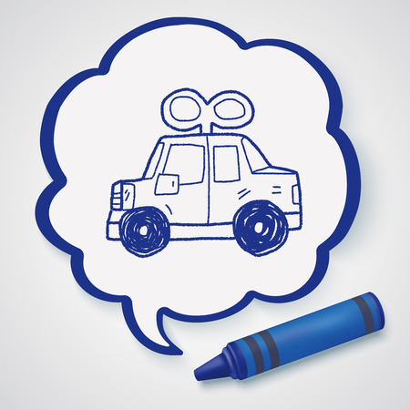 toy the car: toy car doodle Illustration