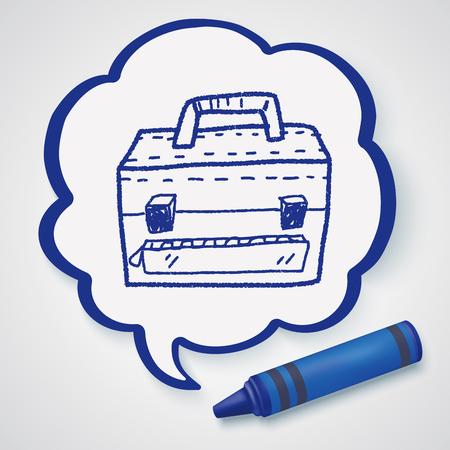 briefcase: briefcase doodle
