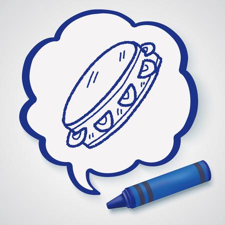 tambourine: tambourine doodle Illustration