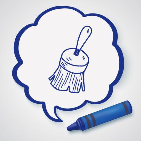 wet wood: clean brush doodle