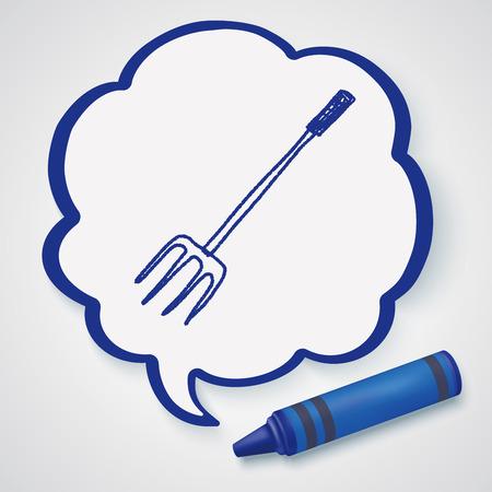 hay bale: fork doodle