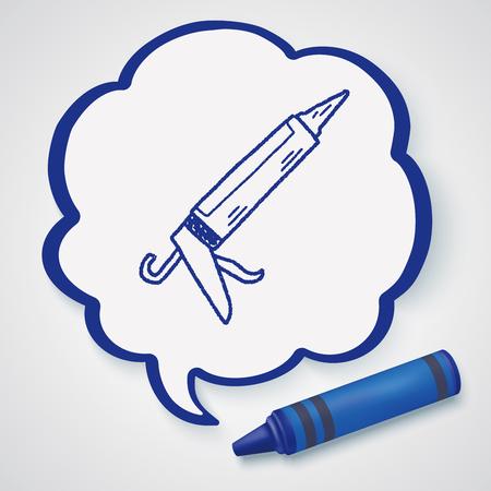 pegamento: Doodle de pistola de pegamento