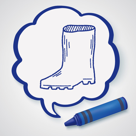 welly: rain boots doodle Illustration