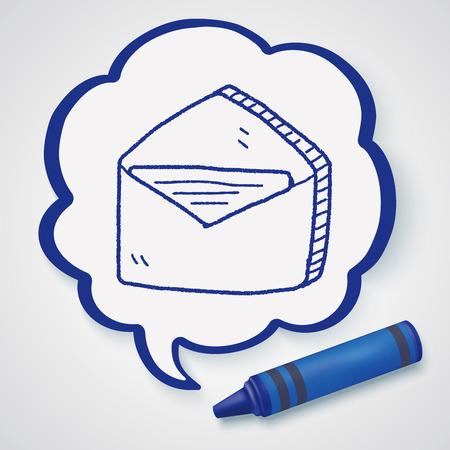 send mail: doodle send mail Illustration