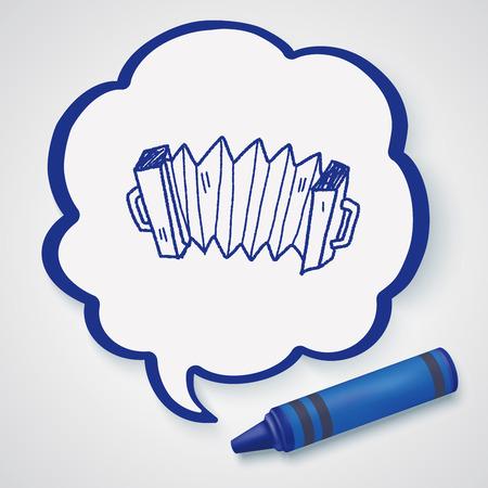 accordion: Accordion doodle Illustration