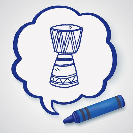 reggae: African drum doodle Illustration