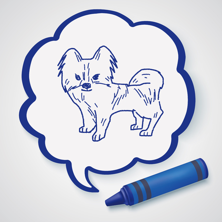 pencil drawings: dog doodle Illustration