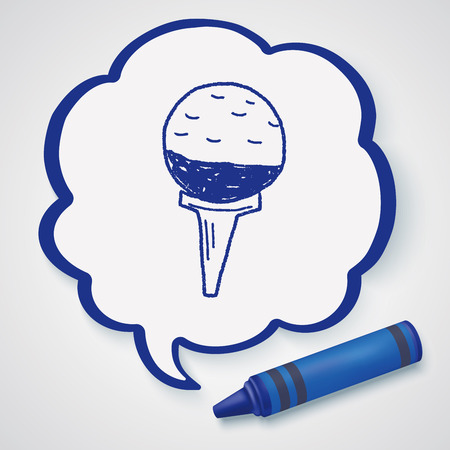 symbol sport: golf doodle
